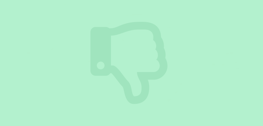 Image shows a hand with the thumb pointing down to show disapproval, and that I am leaving Facebook.
